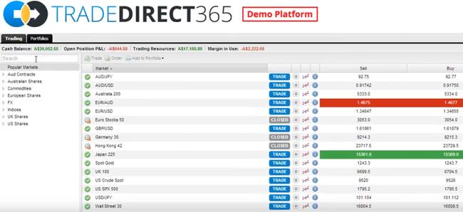 trade direct 365 trading platform
